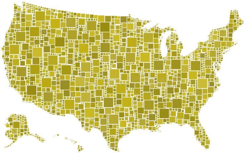 Gli Stati Uniti in un mosaico dei quadrati royalty illustrazione gratis