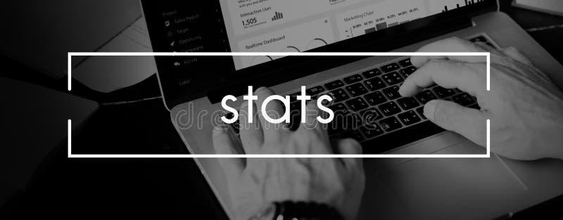 Gli Stats analizzano il concetto economico di vendite di finanza di commercio immagine stock libera da diritti