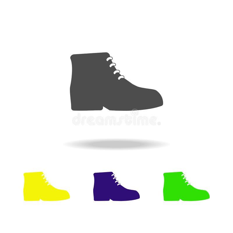gli stivali degli uomini, adattano le icone multicolori Può essere usato per il web, il logo, il app mobile, UI, UX illustrazione di stock