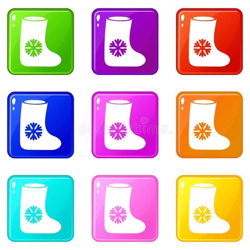 Gli stivali del feltro hanno messo 9 illustrazione vettoriale