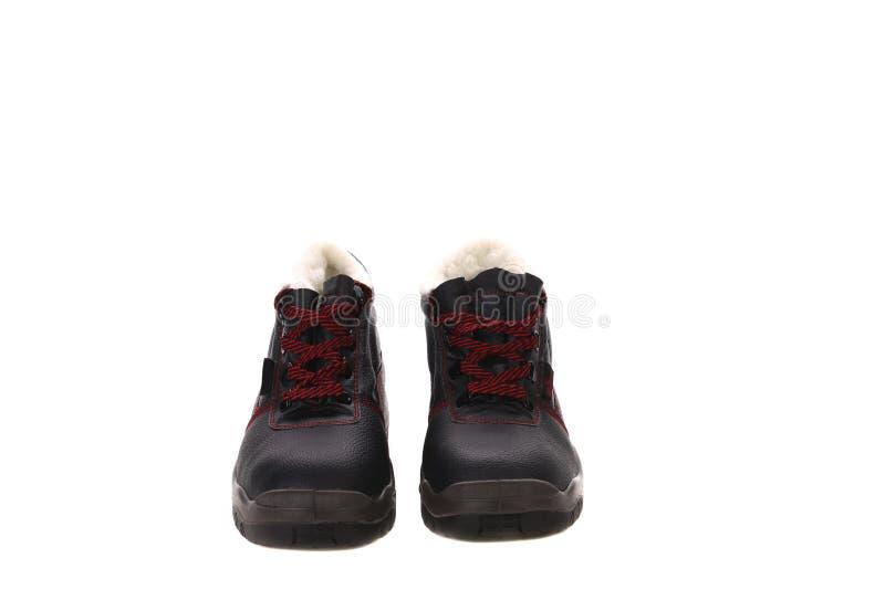 Gli stivali dell'uomo di inverno. fotografie stock libere da diritti