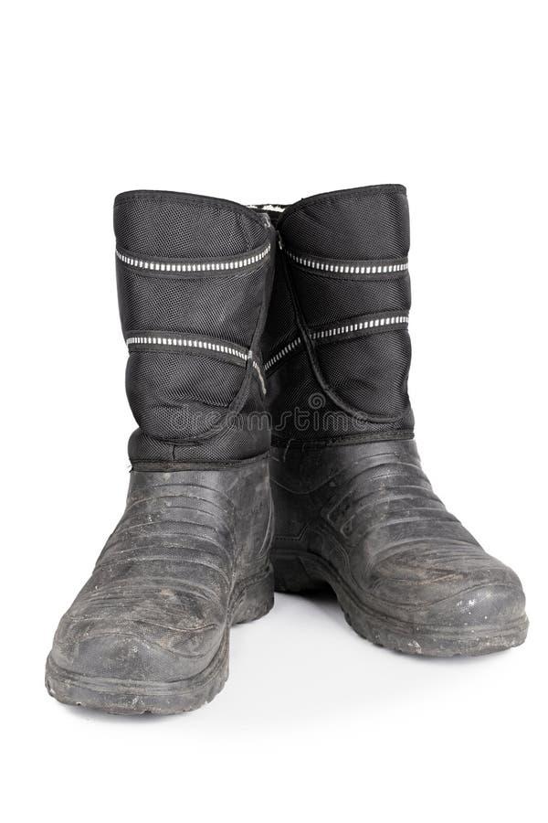 Gli stivali di gomma degli uomini caldi fotografia stock
