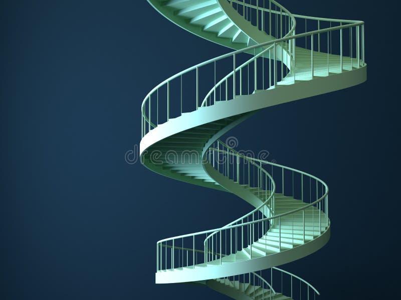 Gli strairs a spirale hanno isolato illustrazione di stock