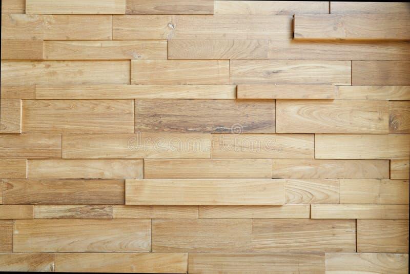 Gli strati di legno del fondo della parete della parete di legno della plancia strutturano la st moderna fotografie stock libere da diritti