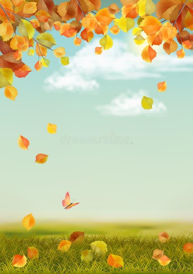 gli strati di paesaggio degli elementi di autunno separano il vettore royalty illustrazione gratis
