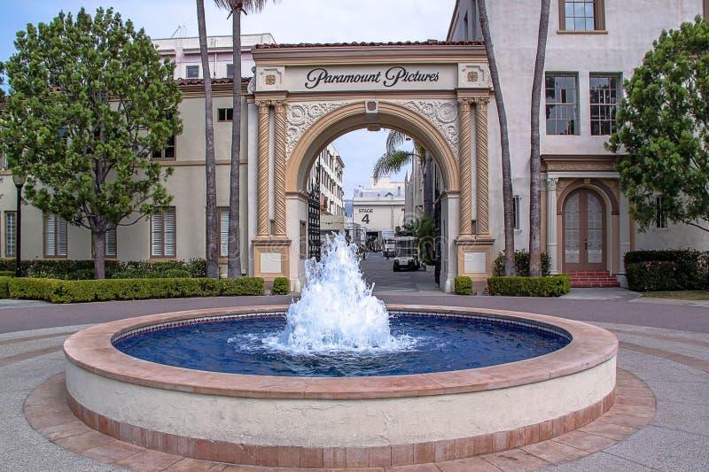 Gli studi di Paramount Pictures, giri dello studio Los Angeles, S immagine stock