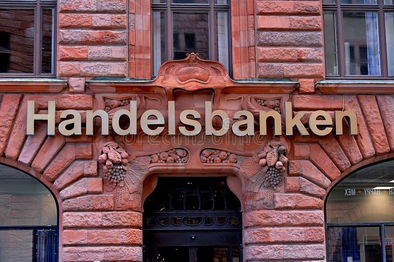 Gli svedese handelsbanken a Malmo svezia immagini stock libere da diritti