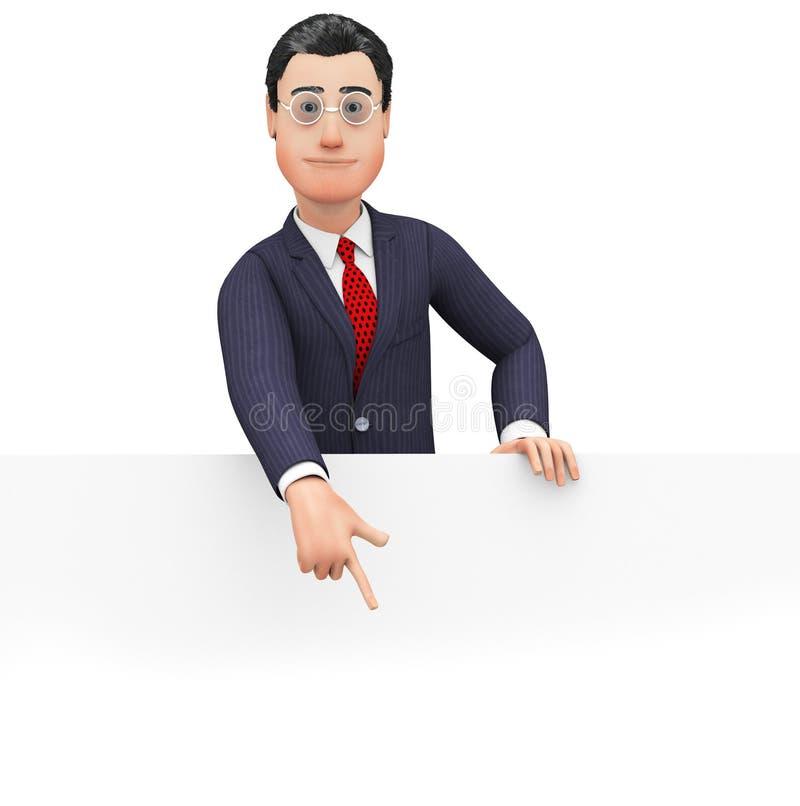 Gli uomini d'affari commerciali di With Copyspace Indicates dell'uomo d'affari ed annunciano royalty illustrazione gratis