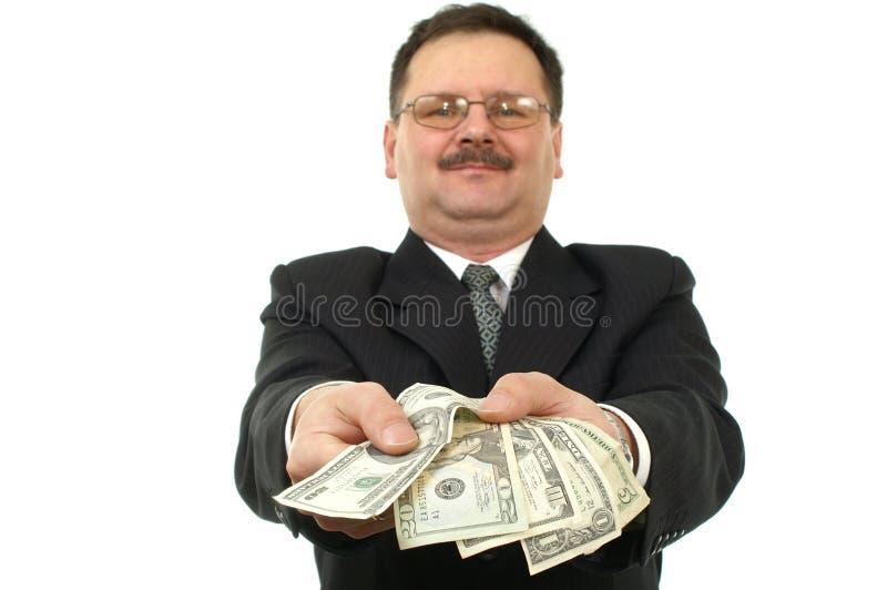 Gli uomini di affari danno alcune note immagini stock