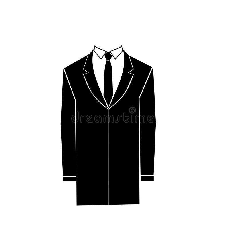 Gli uomini ricoprono o medico sfrega il silhoutte Guardaroba di autunno per l'uomo d'affari Vestiti della tuta sportiva illustrazione di stock