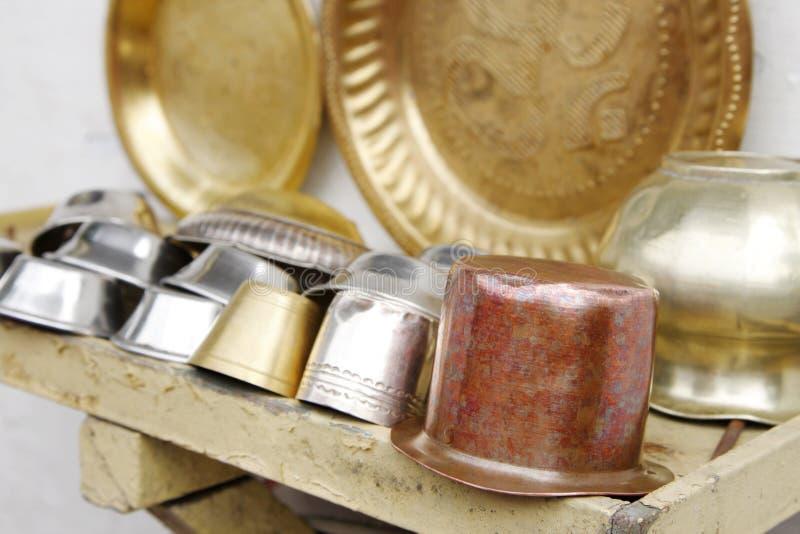 Utensili utilizzati per il culto del dio fotografie stock libere da diritti