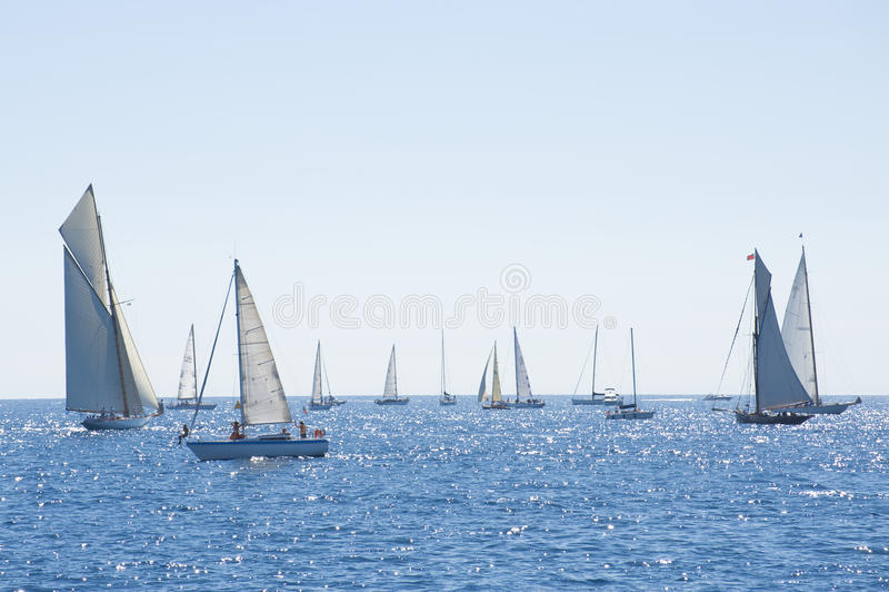 Gli yacht classici di Panerai sfidano 2010 - Imperia fotografie stock