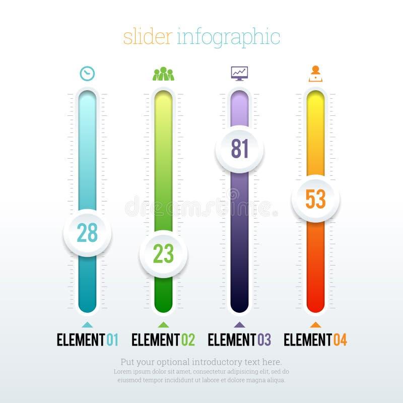 Glidare Infographic royaltyfri illustrationer