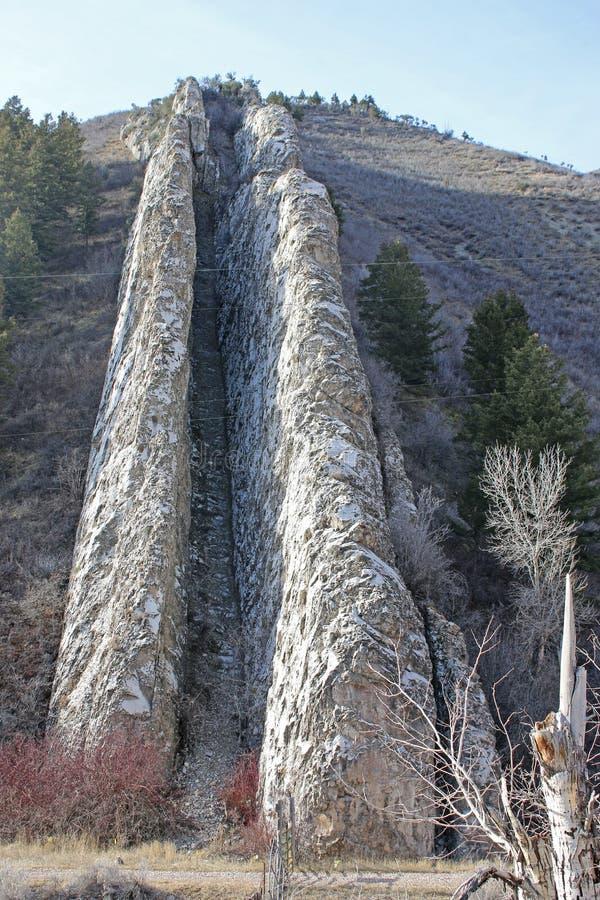 Glidbana för jäkel` s, Utah arkivbilder