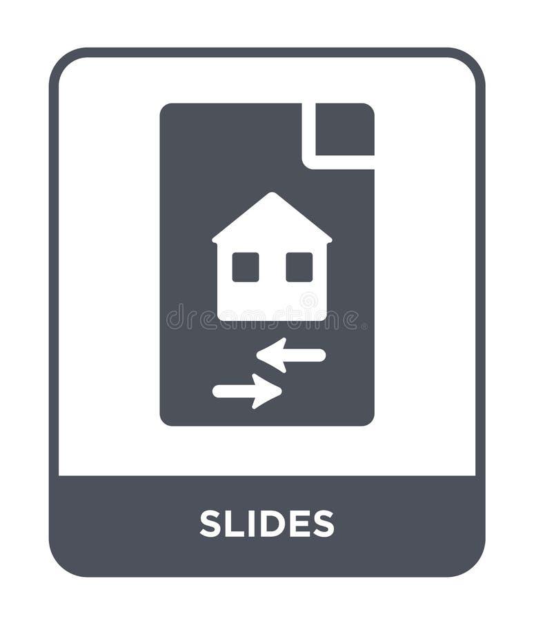 glidbanasymbol i moderiktig designstil glidbanasymbol som isoleras på vit bakgrund enkelt och modernt plant symbol för glidbanave vektor illustrationer