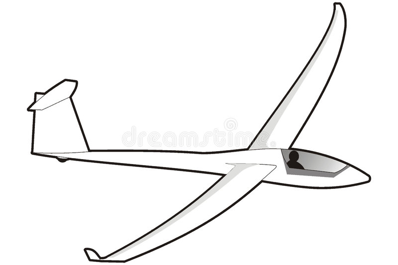 Download Glider stock vector. Image of attractive, adventure, competition - 3669935