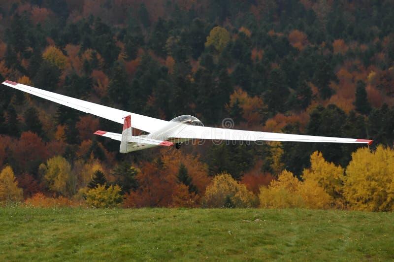 Glider in flight. royalty free stock photos
