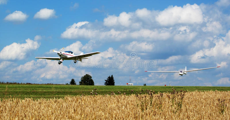 Glider Going Up Royalty Free Stock Photography
