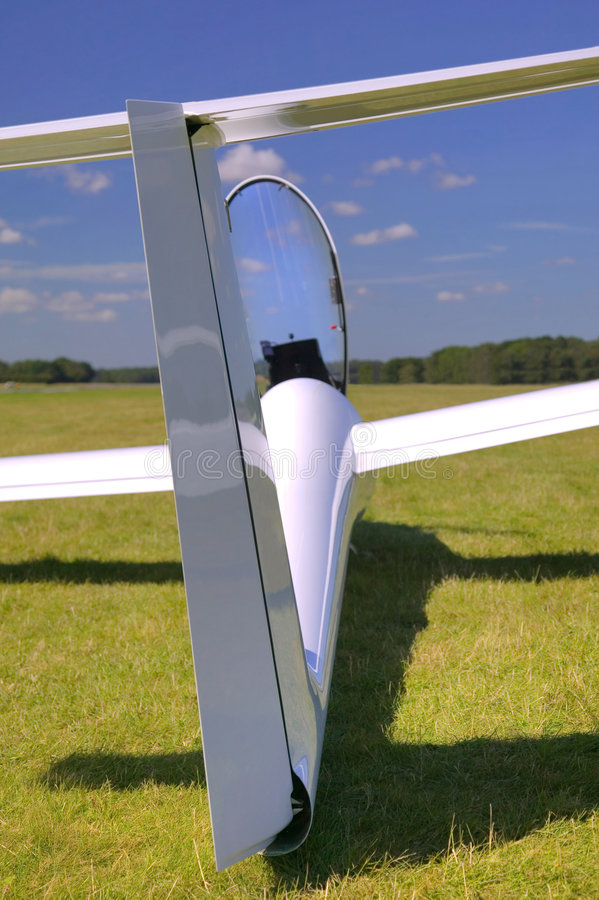 Glider rear view. royalty free stock image