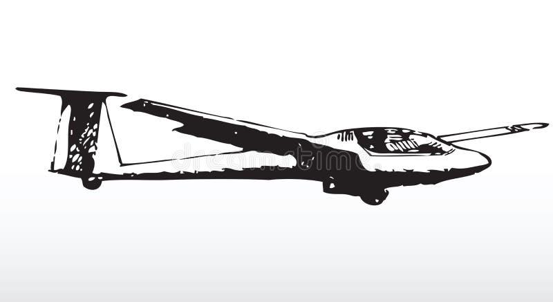 glider silhouette διανυσματική απεικόνιση