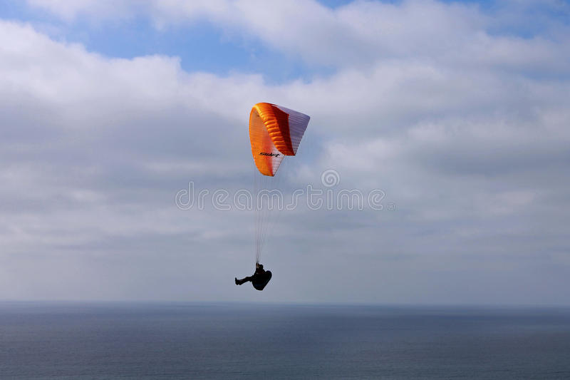 Glider on the sky, La Jolla, California royalty free stock photography