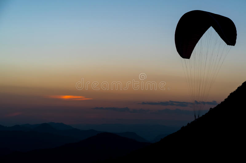 Gliding at Dusk stock images