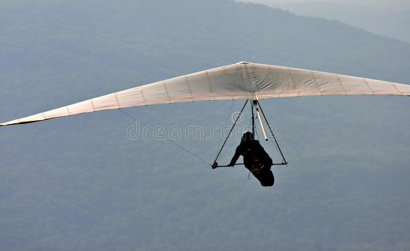 Gliding for fun. stock images