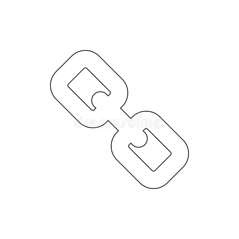 Gliederketteentwurfsikone Zeichen und Symbole k?nnen f?r Netz, Logo, mobiler App, UI, UX verwendet werden stock abbildung