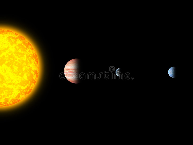 Gliese581 system royalty free illustration