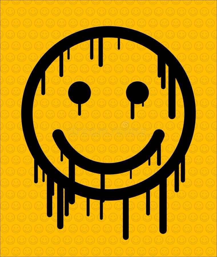 Glimlach vector illustratie