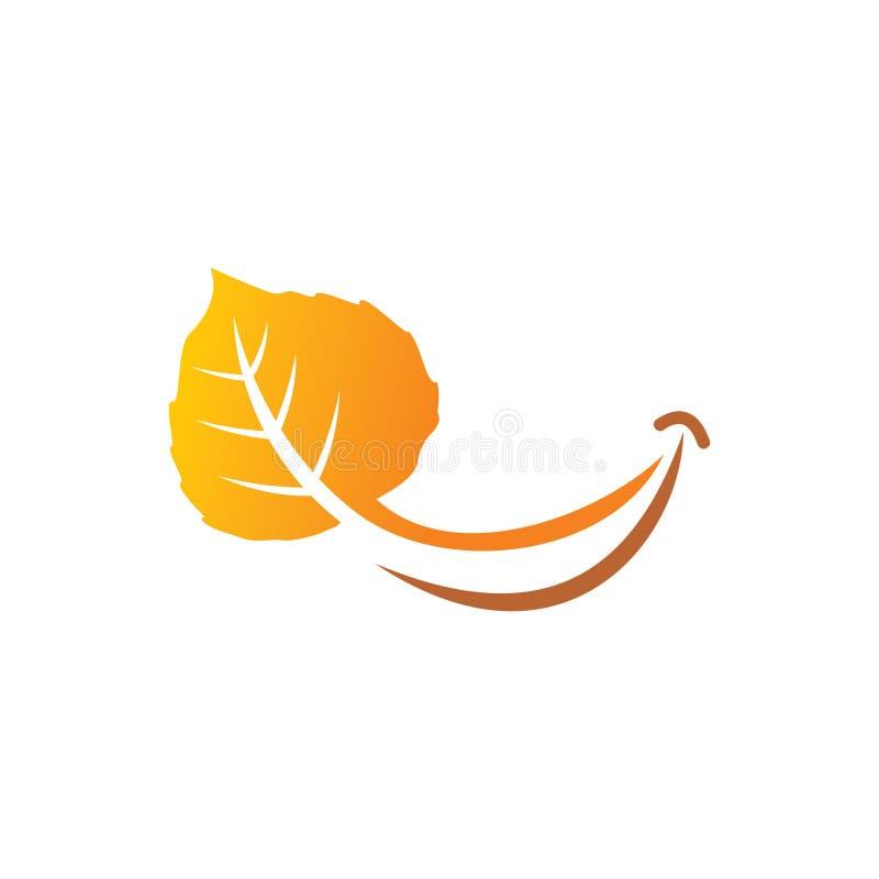 Glimlach Aspen Leaf royalty-vrije stock afbeeldingen