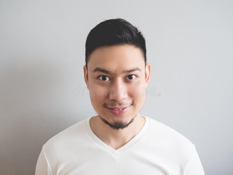 Glimlach Aziatische mens royalty-vrije stock foto's