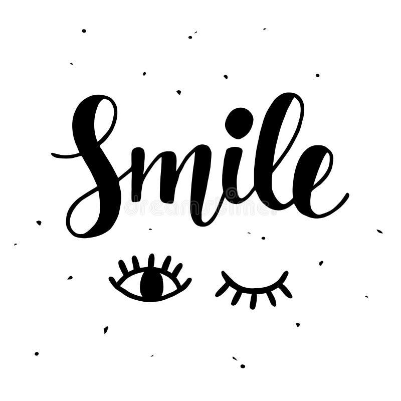 Glimlach Inspirational affiche vector illustratie