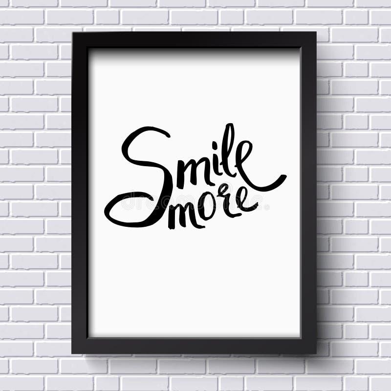 Glimlach Meer Concept op een Zwart-wit Kader vector illustratie