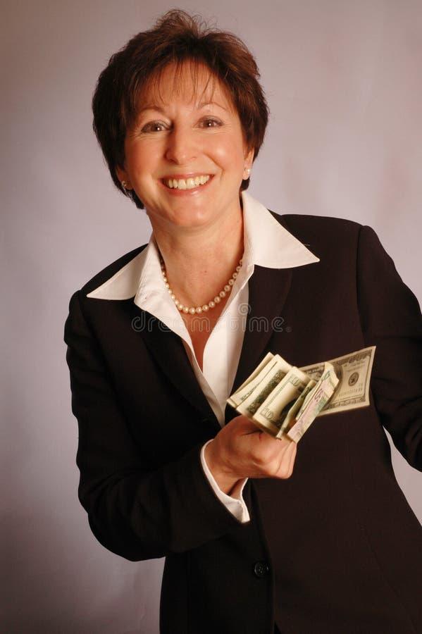 Glimlach met contant geld 2174 royalty-vrije stock foto's