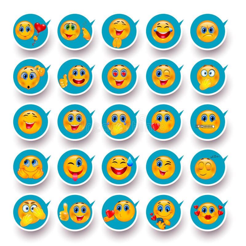 Glimlach ooit en overal Mobiele pictogrammen stock illustratie