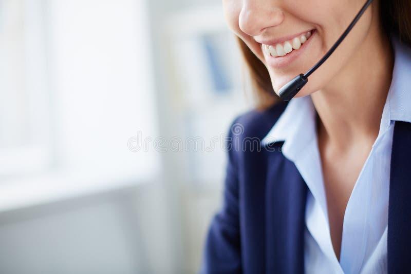 Glimlach van adviseur stock afbeeldingen