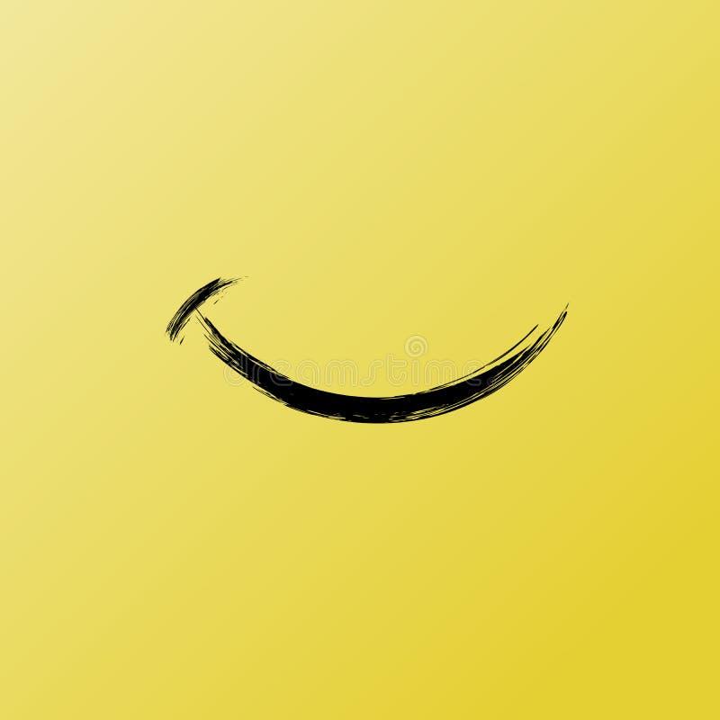 Glimlach van Grappig Borstel Grafisch, Vectorpictogram Inspirational en Motieven Grafische Illustratie vector illustratie
