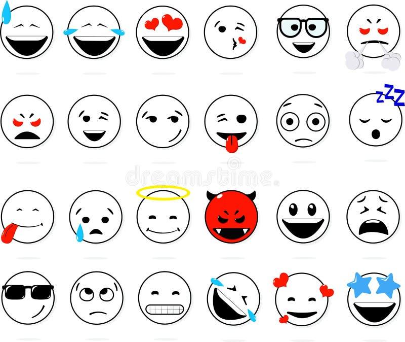 Glimlach van reeks stock illustratie