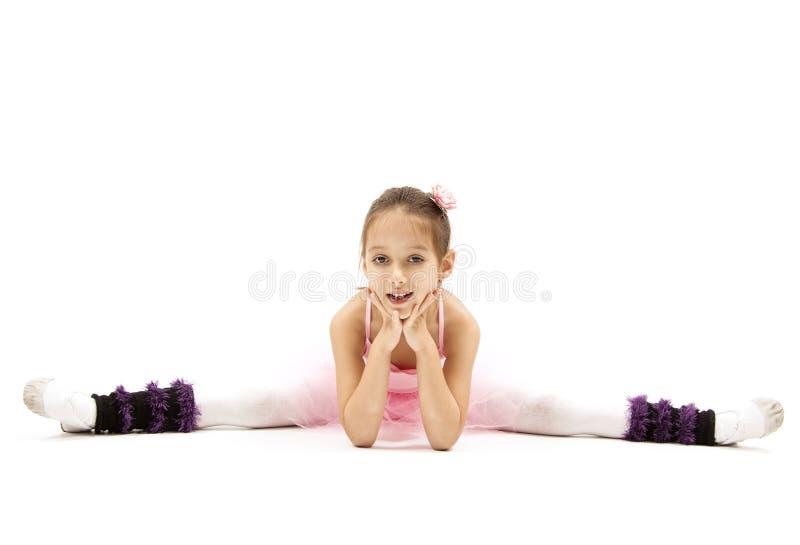 Glimlachballaerina stock foto