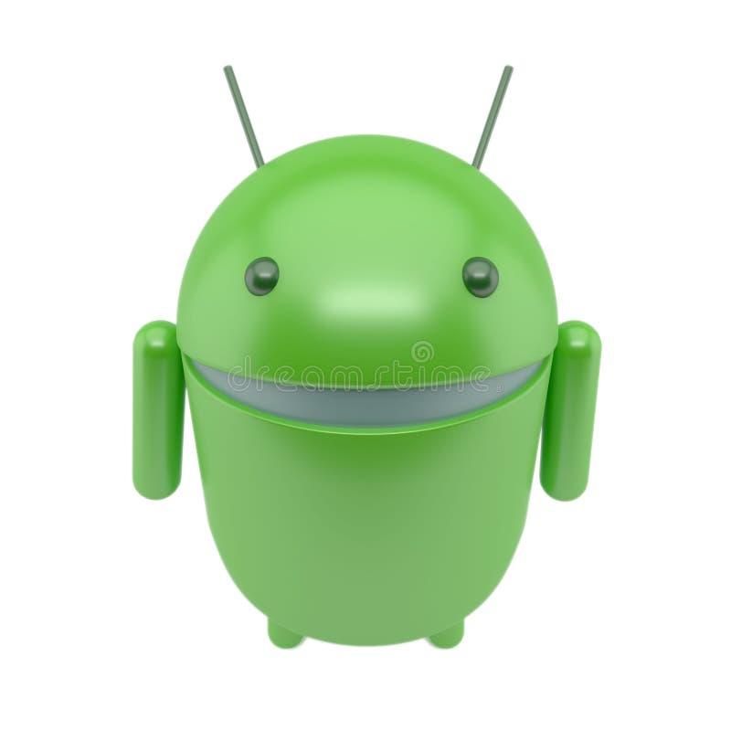Glimlachend androïde robot vector illustratie