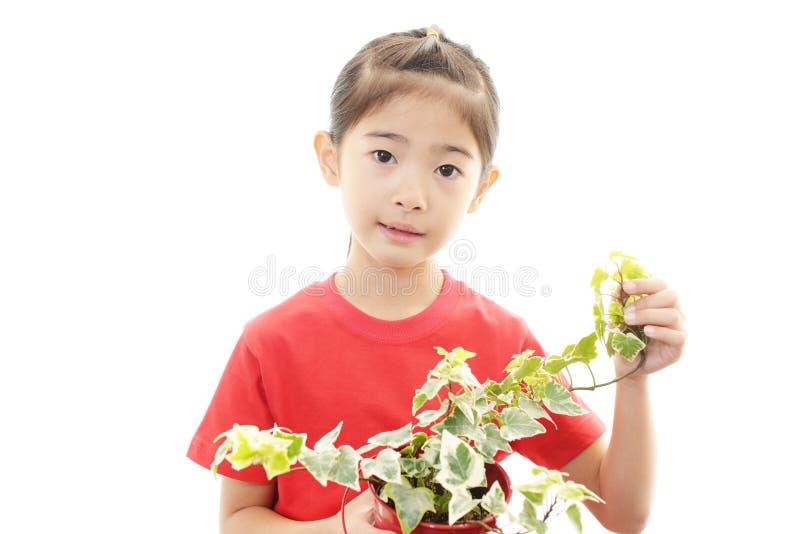 Glimlachend Aziatisch meisje royalty-vrije stock foto's