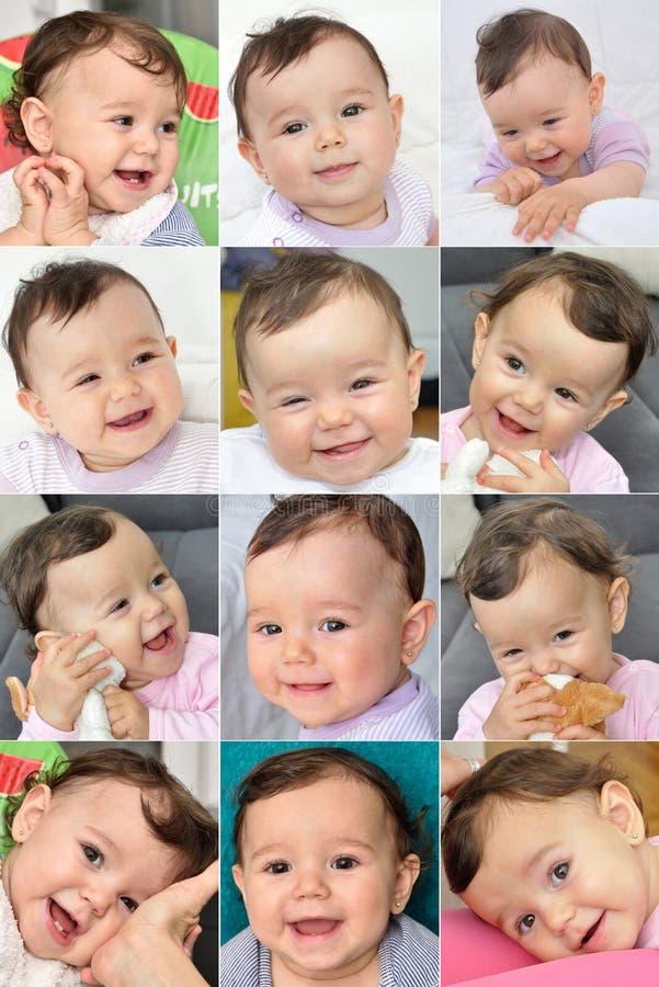 Glimlachend babymeisje royalty-vrije stock foto's