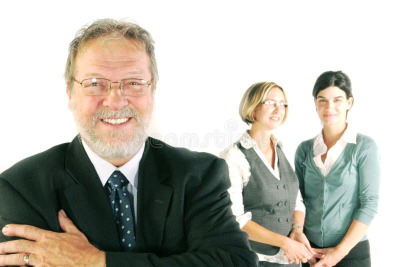 Glimlachend commercieel team royalty-vrije stock afbeeldingen
