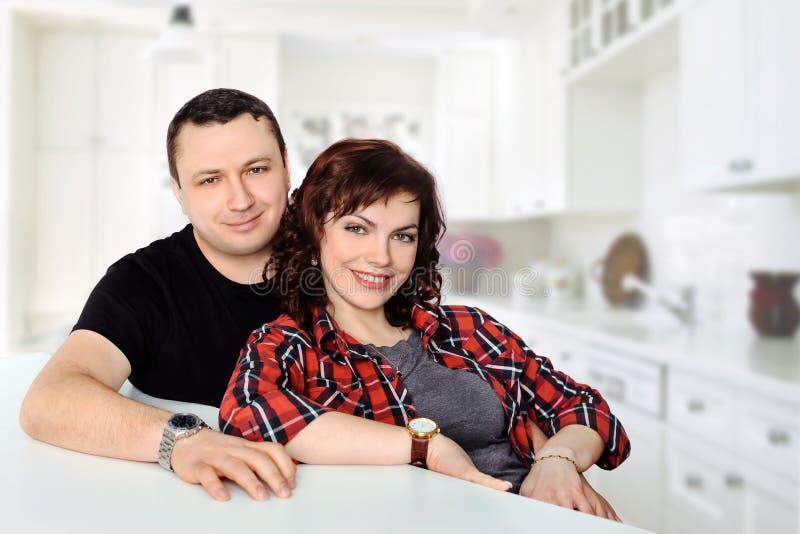 Glimlachend familiepaar royalty-vrije stock foto