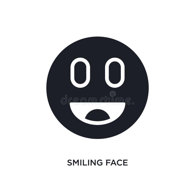 glimlachend gezicht geïsoleerd pictogram eenvoudige elementenillustratie van de uiteindelijke pictogrammen van het glyphiconsconc stock illustratie