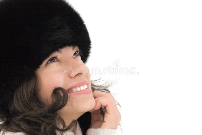 Glimlachend leuk meisje royalty-vrije stock foto's