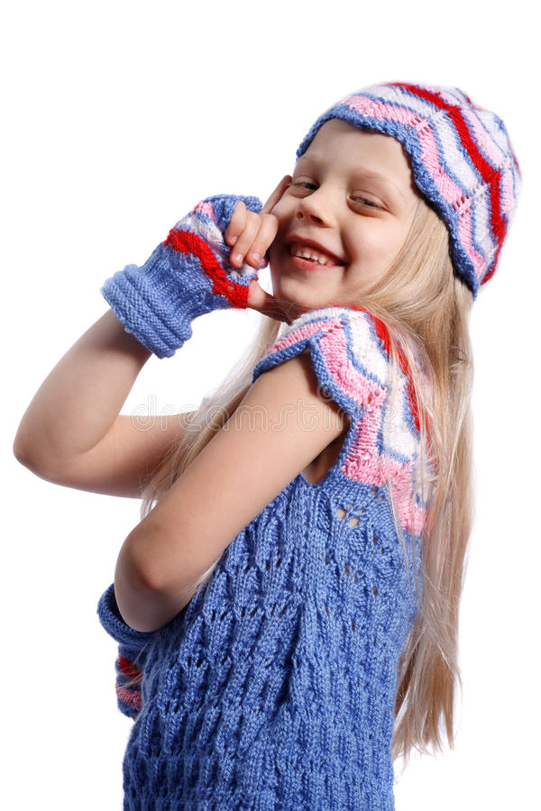 Glimlachend meisje stock afbeelding