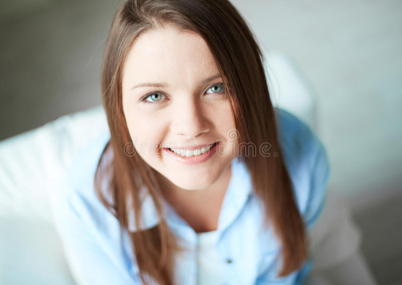 Glimlachend meisje stock foto's