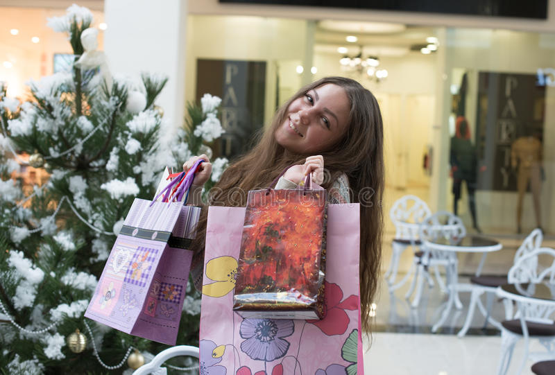 Glimlachend meisje met royalty-vrije stock foto